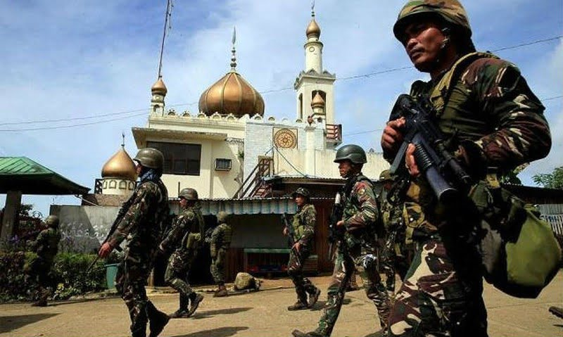 Filipino soldiers entered many parts of the city of Marawi