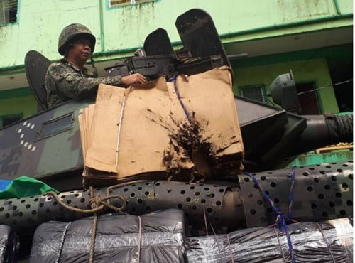Philippines wrapped paperboard for anti-IS armored vehicles
