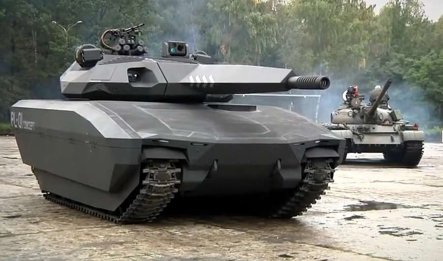 The design of the PL-01 is unlike any tank ever introduced in the world