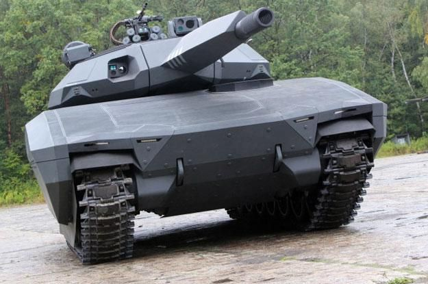 The PL-01 tank is a combination of a multitasking module chassis with an unmanned automatic turret that uses a 105mm or 120mm smoothbore gun that allows firing both artillery and rockets.